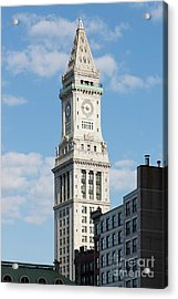 Boston Custom House Tower Acrylic Print by Clarence Holmes