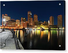 Boston Harbor Skyline  Acrylic Print