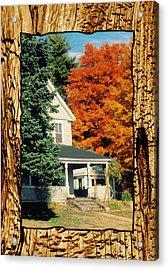 Boston Home Fall 1982 Acrylic Print by Noah Brooks