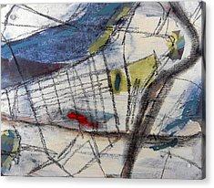 Boston Map  Acrylic Print by Romina Diaz-Brarda