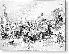 Boston: Sleighing, 1856 Acrylic Print