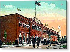 Boston's Fenway Park In 1914 Acrylic Print by Dwight Goss
