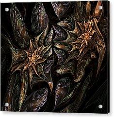 Botanical Fantasy 123011 Acrylic Print by David Lane