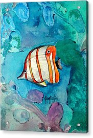 Bottle Nose Tropical Fish Acrylic Print