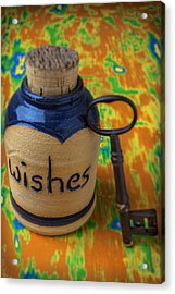 Bottle Of Wishes Acrylic Print by Garry Gay