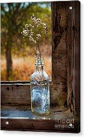 Bottle On Window Sill Acrylic Print