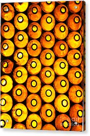 Acrylic Print featuring the photograph Bottle Pattern by Nareeta Martin