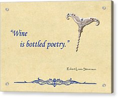 Bottled Poetry Acrylic Print by Elaine Plesser