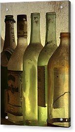 Bottles Still Acrylic Print by Kelly Rader