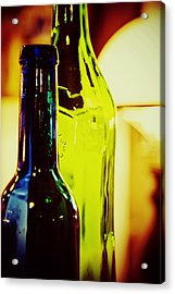 Bottles Acrylic Print by Toni Hopper