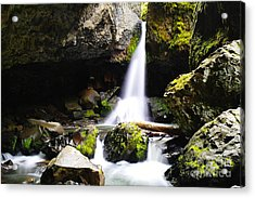 Boulder Cave Falls Revisited Acrylic Print by Jeff Swan