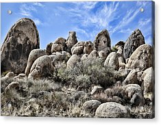 Boulder Populated Acrylic Print by Kelley King