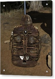 Acrylic Print featuring the photograph Boulder Utah Roadside Tractor Grill Face by Gregory Scott