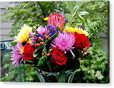 Bouquet  3 Acrylic Print by Tanya  Searcy