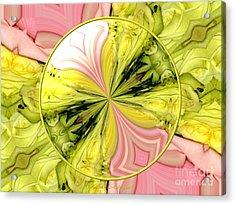 Bouquet Of Roses Kaleidoscope 9 Acrylic Print by Rose Santuci-Sofranko