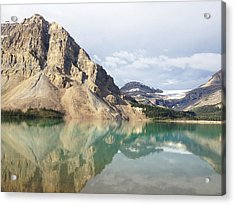 Bow Lake Acrylic Print by William Andrew