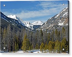 Bowen Mountain In Winter Acrylic Print