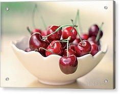 Bowl Of Cherries Acrylic Print by Photo Hélène