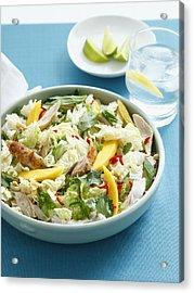 Bowl Of Chicken And Mango Salad Acrylic Print