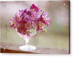 Bowl Of Freesias Acrylic Print