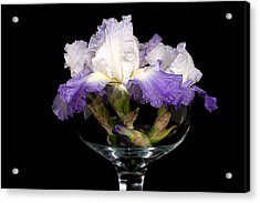 Bowl Of Iris Acrylic Print by Trudy Wilkerson