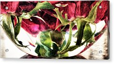 Bowl Of Roses Acrylic Print by Stelios Kleanthous