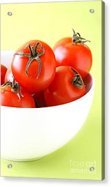 Bowl Of Tomatoes Acrylic Print by HD Connelly