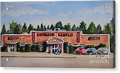 Bowling Center Acrylic Print by Andrea Timm