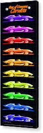 Acrylic Print featuring the drawing 1959 Stingray Box Of Crayons by K Scott Teeters