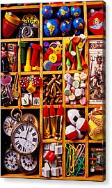 Box With Compartments Acrylic Print by Garry Gay