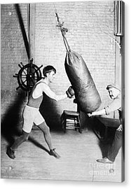 Boxing: Bat Nelson, 1920 Acrylic Print by Granger