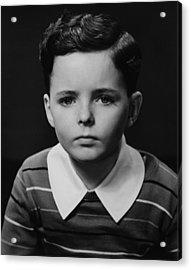Boy (6-7) Posing In Studio, (b&w), Portrait Acrylic Print by George Marks