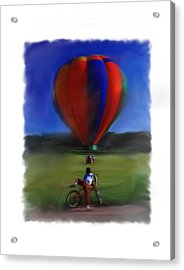 Boy  And Balloon Acrylic Print
