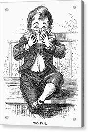 Boy Eating Acrylic Print by Granger