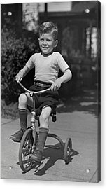 Boy On Tricycle Acrylic Print by George Marks