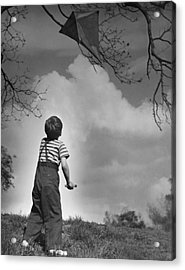 Boy Outdoors Acrylic Print by George Marks