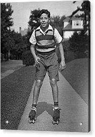Boy Roller-skating Acrylic Print by George Marks