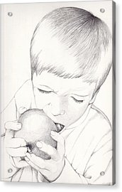 Boy With Apple Acrylic Print