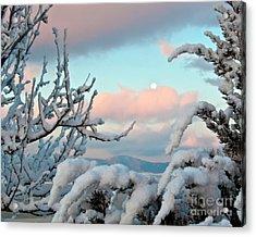 Boyd Lake Winter Sunrise Acrylic Print by Harry Strharsky