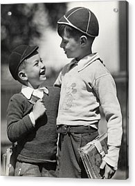 Boys Going To School Acrylic Print by George Marks