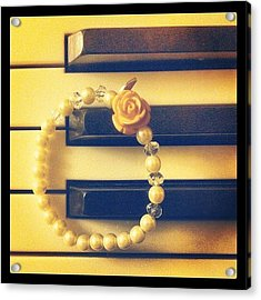 #bracelet #piano #rose #new Acrylic Print