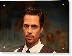 Brad Pitt - William Bradley Brad Pitt - Actor-  Acrylic Print by Lee Dos Santos