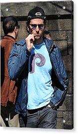 Bradley Cooper On Location Film Shoot Acrylic Print by Everett