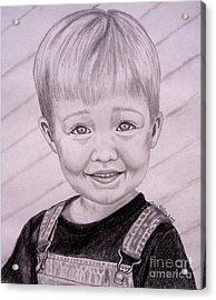 Acrylic Print featuring the drawing Brady by Julie Brugh Riffey