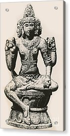 Brahma, Hindu God Acrylic Print by Photo Researchers