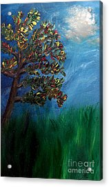 Acrylic Print featuring the painting Branched Impressions by Ayasha Loya