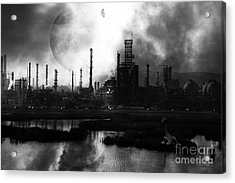 Brave New World - Version 2 - Black And White - 7d10358 Acrylic Print by Wingsdomain Art and Photography