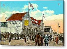 Braves' Field In Boston Ma In 1917 Acrylic Print by Dwight Goss