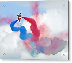 Break  Red Arrows - Dunsfold 2012 Acrylic Print by Colin J Williams Photography