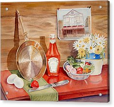 Breakfast At Copper Skillet Acrylic Print